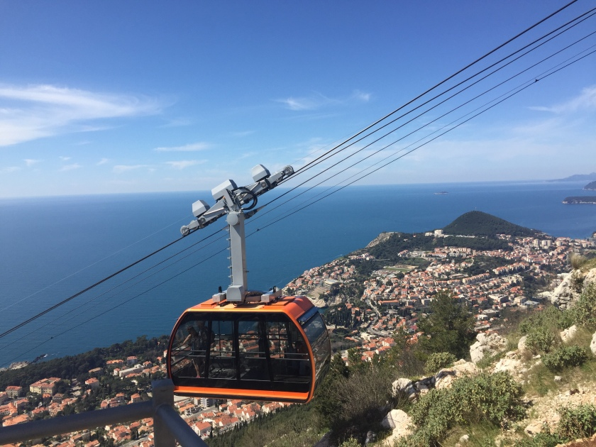 The Dubrovnik cable car in Croatia
