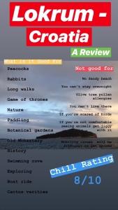 Holiday review of lokrum Croatia