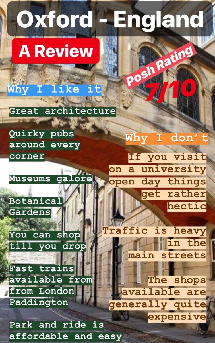 Review of oxford in England