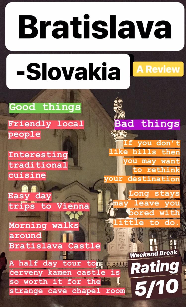 Bratislava Slovakia review