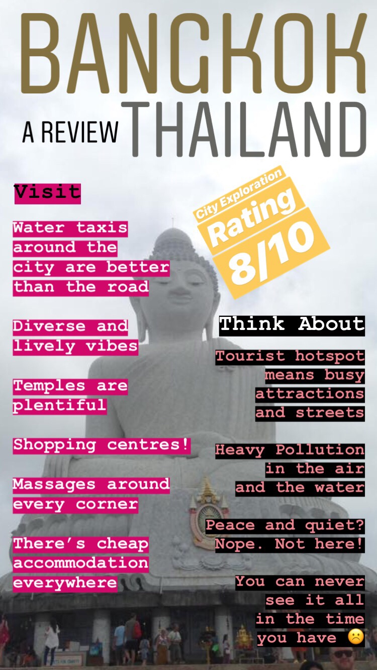 Bangkok review the good and bad of Thailand and being there. Mini Review of the country