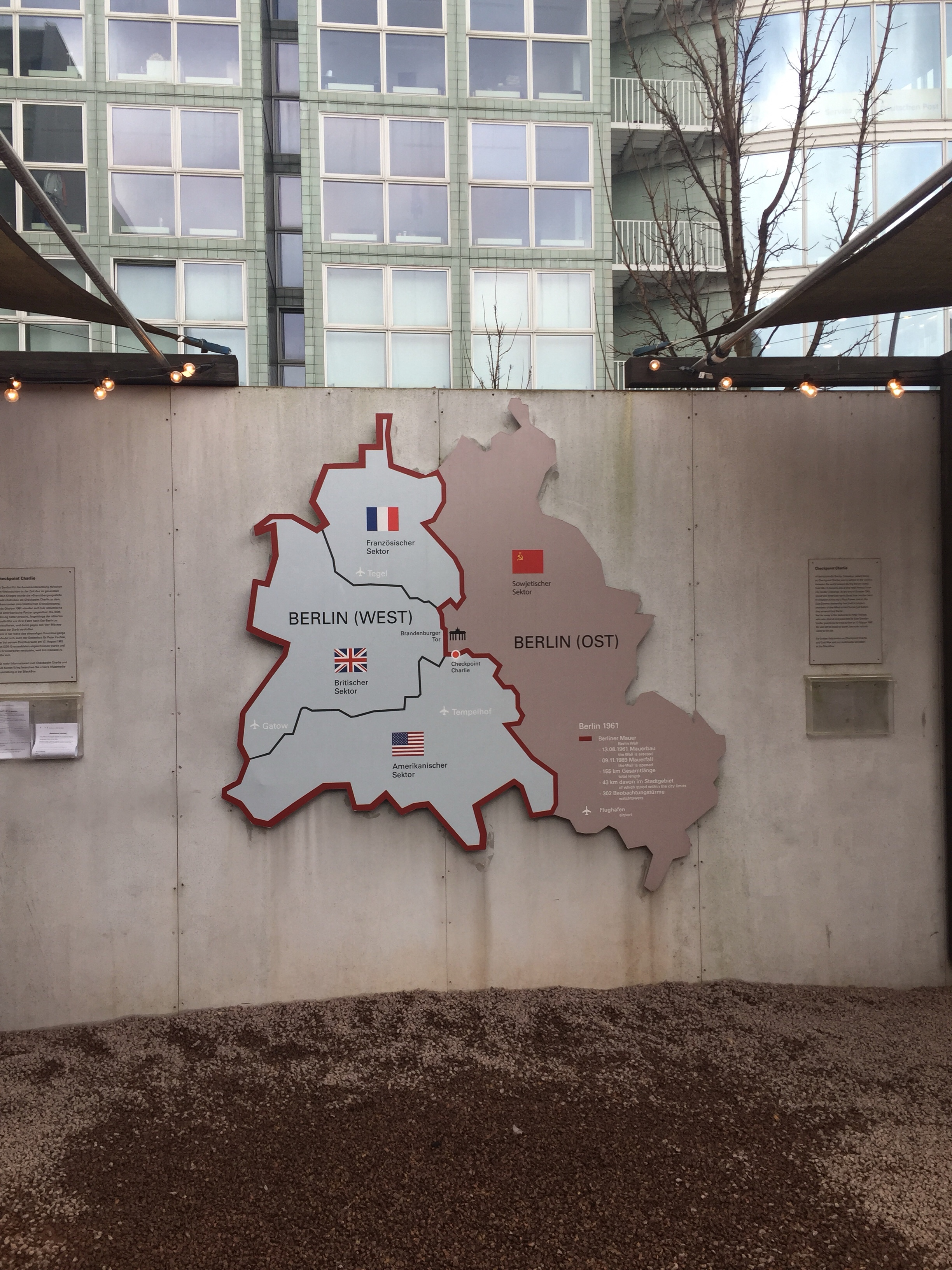berlin map on the berlin wall british and german