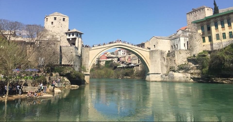 Mostar old bridge in Bosnia and hertz