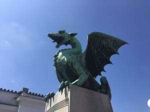 Dragon, statue, bridge, ljubljana, slovenia