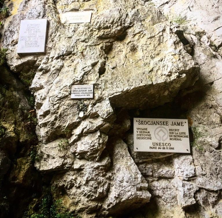 UNESCO listed cave Skocjan Caves near Ljublljana and Bled in Slovenia Postojna