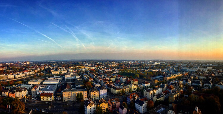 View from the dorint hotel augsburg corncob tower