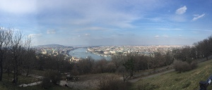 View over Budapest from the citadel where you can see the Danube river. Hungary.