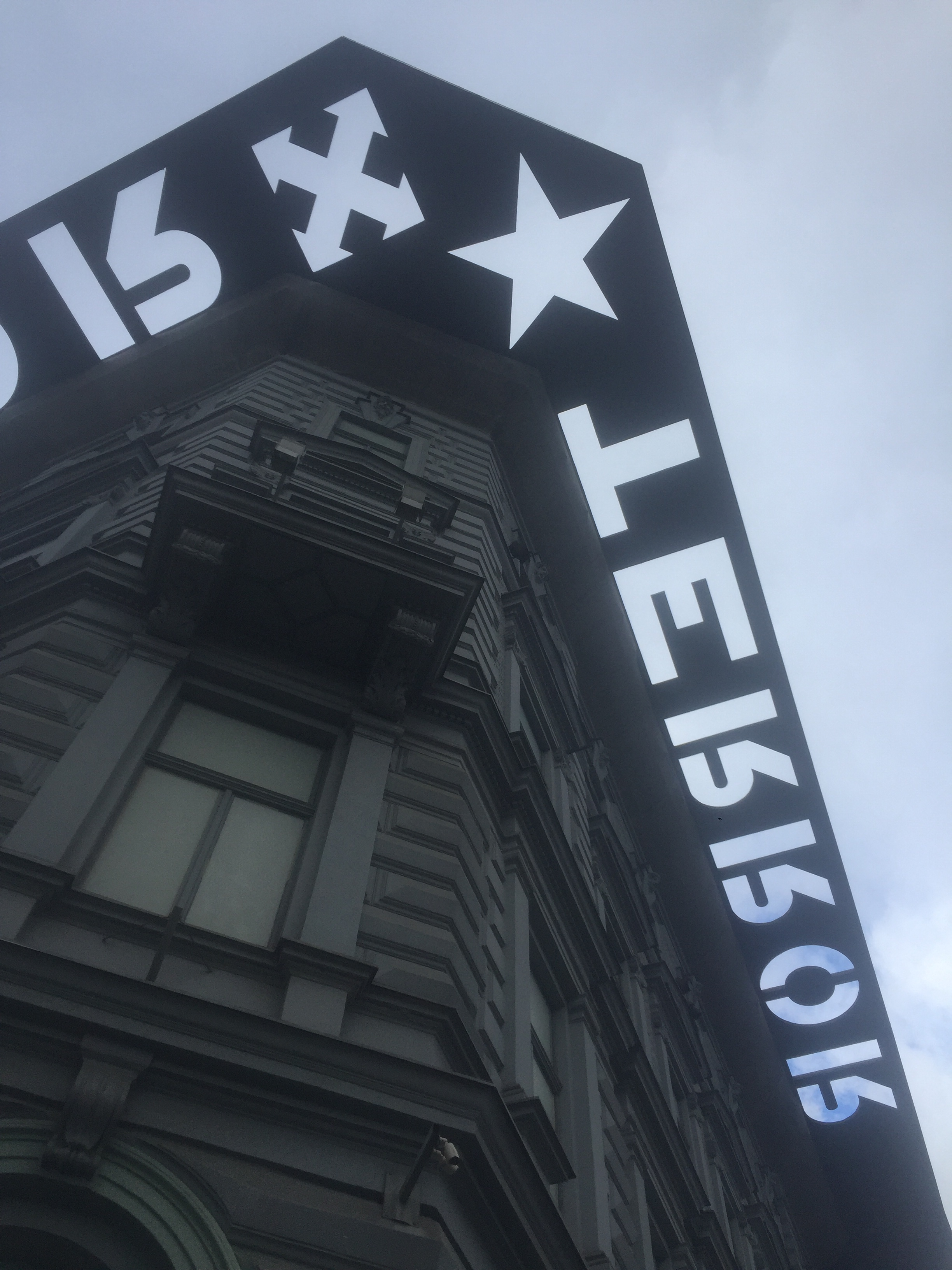 House of terror in Budapest outside view.