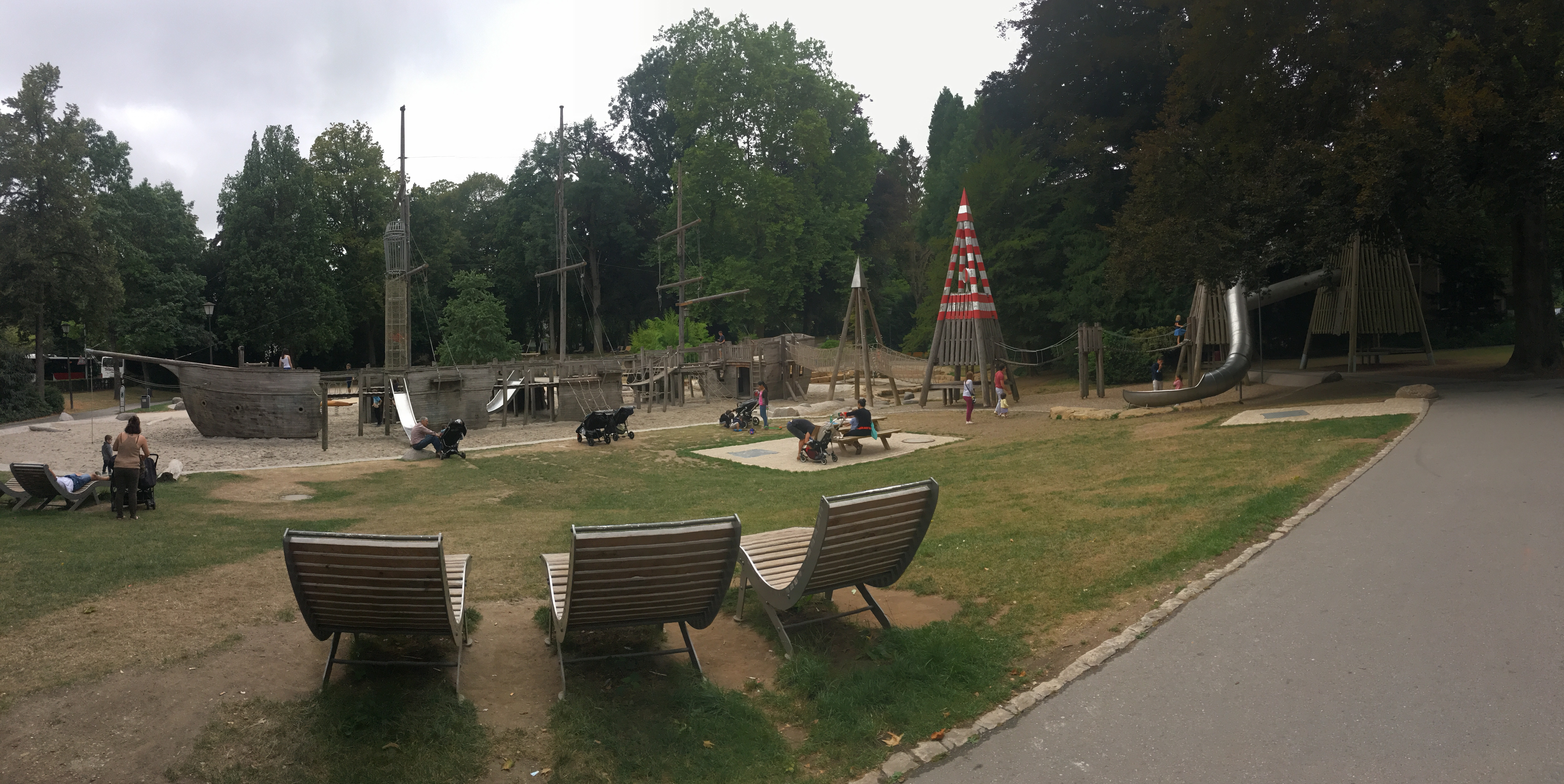 Pirate park in Luxembourg Municipal Park for children