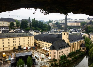 Looking over the grund in Luxembourg city