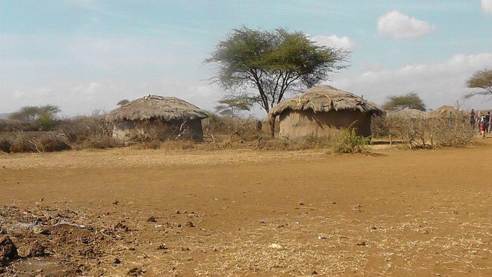 Traditional Maasai homes,