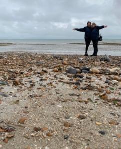 Me and mum at Worthing beach